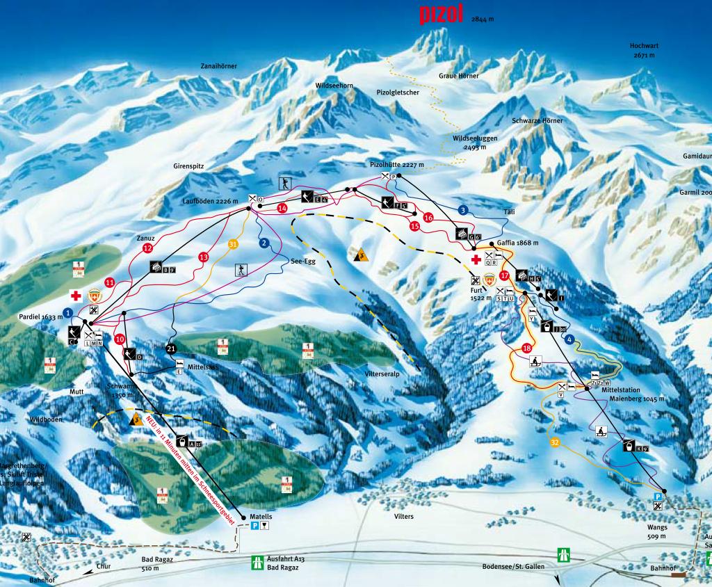 Pizol Skigebiet